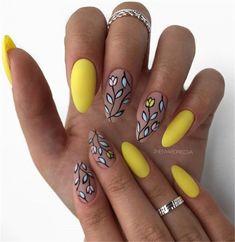 Choose stylish nail art - Page 42 of 69 - Inspiration Diary - - Choose stylish nail art – Page 42 of 69 – Inspiration Diary Nails Ideas Choose stylish nail art – Page 42 of 69 – Inspiration Diary Fancy Nails, Diy Nails, Cute Nails, Yellow Nail Art, Yellow Nails Design, Oval Nails, Oval Nail Art, Cute Acrylic Nails, Stylish Nails