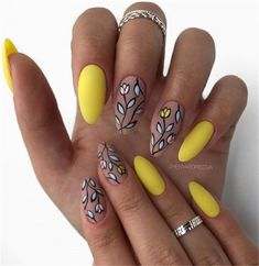 Choose stylish nail art - Page 42 of 69 - Inspiration Diary - - Choose stylish nail art – Page 42 of 69 – Inspiration Diary Nails Ideas Choose stylish nail art – Page 42 of 69 – Inspiration Diary Fancy Nails, Cute Nails, Hair And Nails, My Nails, Yellow Nail Art, Yellow Nails Design, Oval Nails, Oval Nail Art, Best Acrylic Nails