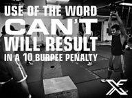Burpee penalty