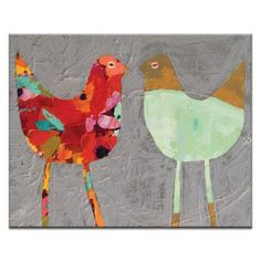Love Birds Canvas Wall Art