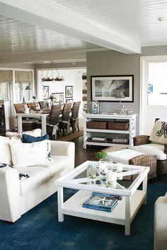 New England, inredning, vardagsrum, soffbord