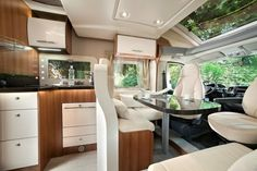 Another swish interior at the Motorhome and Caravan Show