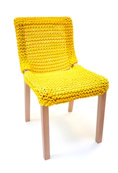 """Granny Chair Outdoor by Wadebe. You choose your color and a """"Granny Boomer"""" knits the cover in marine grade rope."""