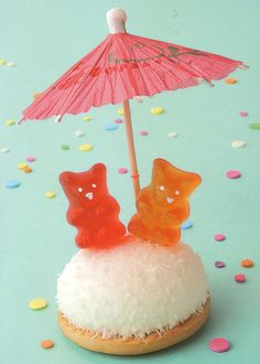 Follow the lead of these gummy bears and keep dry in a downpour.