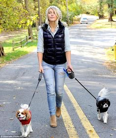 Dressing like your dog! Julianne Hough advertised for American Beagle Outfitters by coordi...