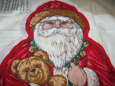 Vintage Stuffed Santa Claus Holiday Fabric by TheIDconnection, $10.00