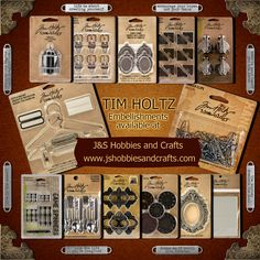 For all those Steampunk addicts, get your Tim Holtz embellishments today at J & S Hobbies and carfts