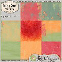 Sweet Summer Fun Art Papers [dayvi-sweetsummerfunartpaper]