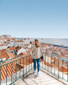 Miradouro das Portas do Sol, Lisbon, Portugal.one of the best viewpoints. Visit Portugal, Portugal Travel, Portugal Trip, Winter Photography, Travel Photography, Huge Waves, Permanent Vacation, Southern Europe, Europe Photos