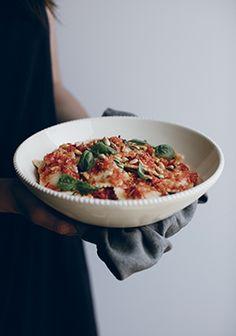 Sauce aux tomates râpées, sans cuisson
