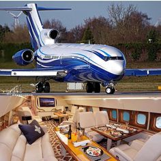 """Private Jet: """"✈️Amazing VIP someone you'd fly with! Jets Privés De Luxe, Luxury Jets, Luxury Private Jets, Private Plane, Dassault Falcon 7x, Jas 39 Gripen, Executive Jet, Private Jet Interior, Aircraft Interiors"""
