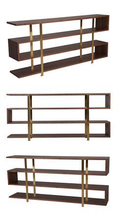 When it comes to bookcases, your beloved paperbacks and celebrated hardbacks deserve the crème de la crème of homes. With its striking, ultra-contemporary silhouette, this Modernist's Bookshelf will pr...  Find the Modernist's Bookshelf, as seen in the On the Modern Side of Mid-Century Collection at http://dotandbo.com/collections/on-the-modern-side-of-mid-century?utm_source=pinterest&utm_medium=organic&db_sku=117112