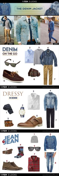 A denim jacket will help pull together many different styles. Take a look at how the iconic denim jacket can help you get three solid looks with one item.