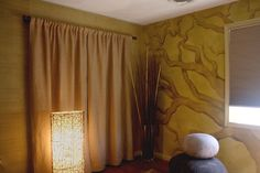Super organic vibe with our Painted Tree Mural and Faux Burlap Wall Finish for a Massage Therapy Studio. Burlap Wall, Sustainable Practices, Wall Finishes, Mural Painting, Massage Therapy, Art Decor, Home Decor, Surface Design, It Is Finished
