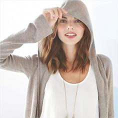 What's under the hood? Cozy cashmere and breathable cotton, of course.
