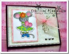 Whimsy and Stars Studio, rubber stamps and digital stamps. Card by Design Team, Christine.