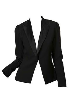 Every style maven NEEDS a Tuxedo Blazer which will NOT date! Chi the Label's Office Boss Tuxedo Jacket is such a piece. Tailored beautifully, the structured shoulder is to die for and it is finished with a clip at the front to create a tiny waist. The lapels are 100% silk satin duchesse. Gorgeous in both the black and the white.    http://www.byariane.com.au/Chi-Office-Boss-Tuxedo-Jacket-Black