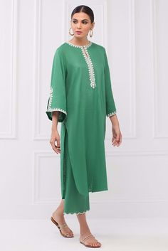 Fashion Brand, Womens Fashion, Emerald Color, Sleeve Styles, Hue, Shirt Style, Lawn, Tunic Tops, Pure Products