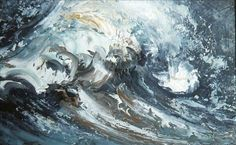 Maggi Hambling bring forth the energy and power of waves through her beautiful oil paintings. The sea has become an obsession for Hambling who starts each Maggi Hambling, Art Alevel, Nature Paintings, Oil Paintings, Wave Art, Sea Art, Art Google, Light In The Dark, Cool Art