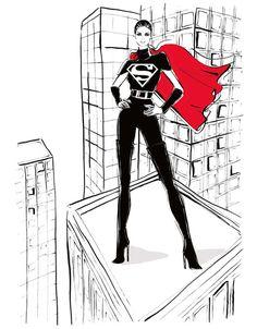 Megan Hess-luv the superwoman look, fab n fierce