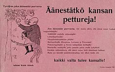 Vaalimainos 1907 eduskuntavaaleista