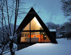 Contemporary-mountain-House-Design-Ideas-with-Extraordinary-and-Beautiful-View-in-Snowy-image, Pyrenees, Paris