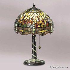 Superieur Interiors 1900 Green Dragongly Tiffany Table Lamp Medium