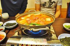 Seoul cafes: Kimchijjigae hot pot restaurants in Seoul