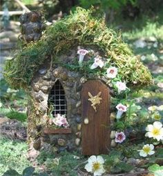 We love fairies and have an old doll house that nobody plays with anymore.  Think we can have some fun changing it to a fairy house this summer for our outdoor fairy garden.