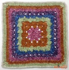 Block in the 2016 Moogly Afghan CAL! Crochet Squares Afghan, Crochet Square Patterns, Crochet Blocks, Crochet Granny, Crochet Motif, Crochet Stitches, Free Crochet, Granny Squares, Knitting Patterns