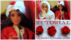 Tutorial : how to make a miniature Christmas Bow for dolls