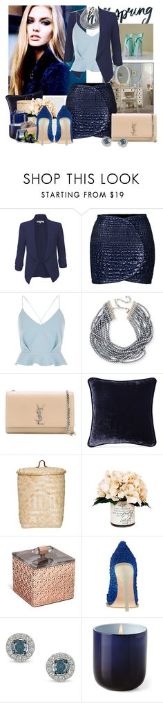 """Untitled #547"" by moni4e ❤ liked on Polyvore featuring Shabby Chic, LE3NO, Kenzo, River Island, Kenneth Jay Lane, Yves Saint Laurent, Poetic Wanderlust, Bloomingville, Creative Displays and Kendra Scott"