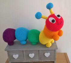 Cyril the rainbow caterpillar Crochet pattern by Liz Ward - Amigurumi toys - Crochet Baby Toys, Crochet Amigurumi, Crochet Toys Patterns, Amigurumi Patterns, Stuffed Toys Patterns, Crochet Animals, Crochet Dolls, Crochet Stitches, Knitting Patterns