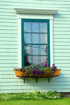 Dory Window Box by jshadford, via Flickr. Taken in Mahone Bay, Nova Scotia, Canada