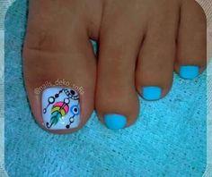 Toe Nail Designs, Nail Polish Designs, Pedicure Nails, Mani Pedi, Toe Nail Art, Acrylic Nails, Hair And Nails, My Nails, Purple And Pink Nails