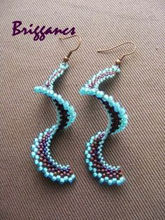 Beaded spiral earrings. Craft ideas from LC.Pandahall.com   #pandahall