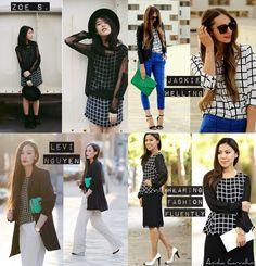 Veja Looks incríveis com o Grid, tendência que abalou as semanas de moda de 2014.