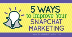 Wondering how you can stand out on Snapchat? http://qoo.ly/7z8ia/0