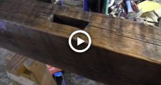 [Time-lapse] Refinishing an old barn beam for a mantle Rustic Fireplace Mantle, Diy Mantel, Rustic Fireplaces, Faux Wood Beams, Pottery Barn Inspired, Farmhouse Plans, Old Barns, Barn Wood, Interior Ideas