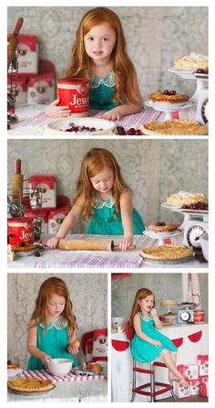 I love everything about this vintage cherry pie shoot!