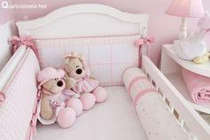 enxoval de berço rosa sonhos