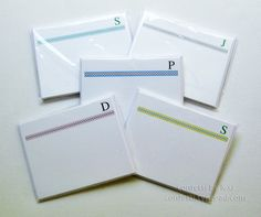 simple monogrammed flat notes