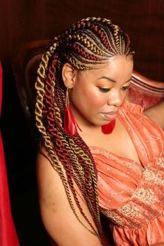Colorful Cornrows