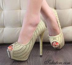 Shining Peep Toe Stiletto Heels Prom shoes