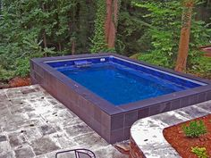 Aboveground Concrete Swimming Pool TOP CLASS CEMI Little House - Above ground endless pool