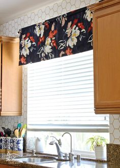 Cool Curtains, How To Make Curtains, Valance Curtains, Curtains Kohls, Curtain Panels, Valance Window Treatments, Kitchen Window Treatments, Window Coverings, Gio Ponti