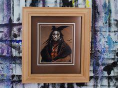 Native American Portrait Custom Handmade Wood by KirbySattlerArt