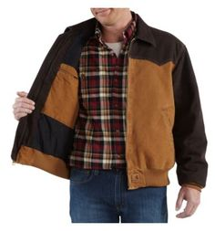 Carhartt - Product - Men's Sandstone Santa Fe Jacket/Quilted- Flannel Lined