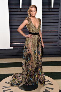 Elizabeth Banks in Elie Saab Haute Couture, 2017 Vanity Fair Oscar Party