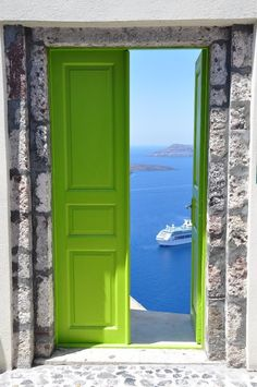 Hotel Door in Santorini, Greece